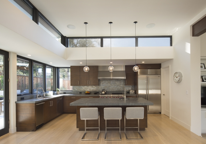High Ceilings in kitchen of home