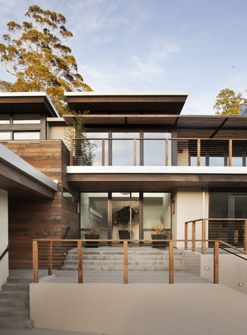 Patio and deck on custom Mill Valley Home