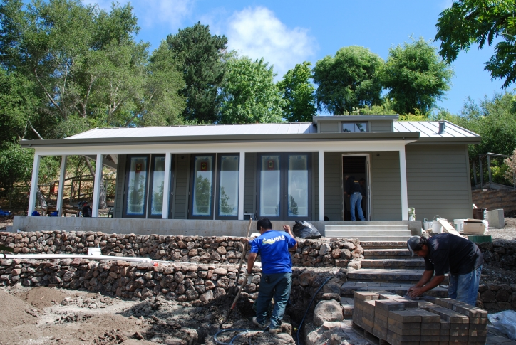 Construction workers building Home in Orinda
