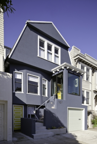 Custom exterior of SF House