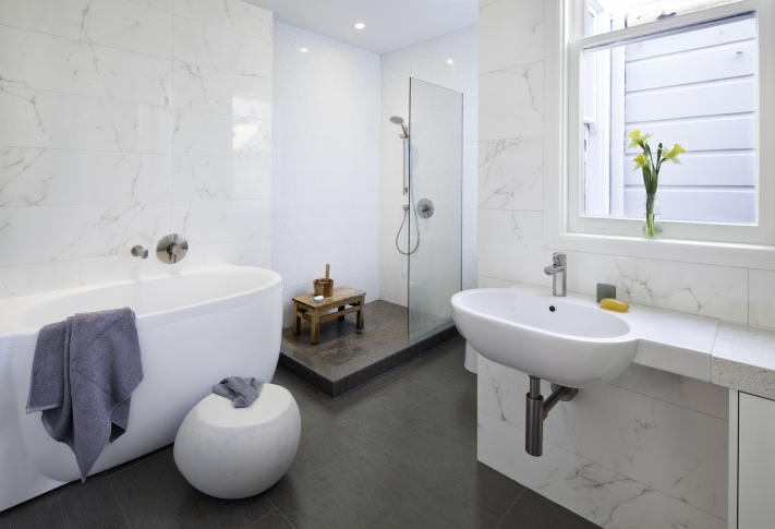 White Stone Bathroom