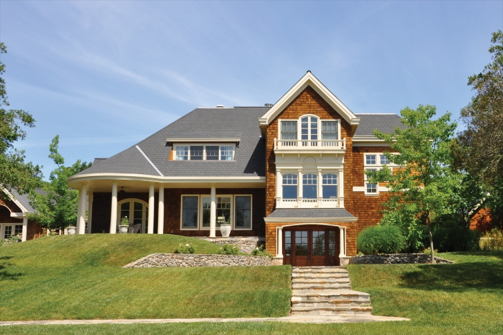 Wood Stained Exterior on Home