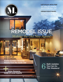 Kasten Builders on cover of Remodel Issue
