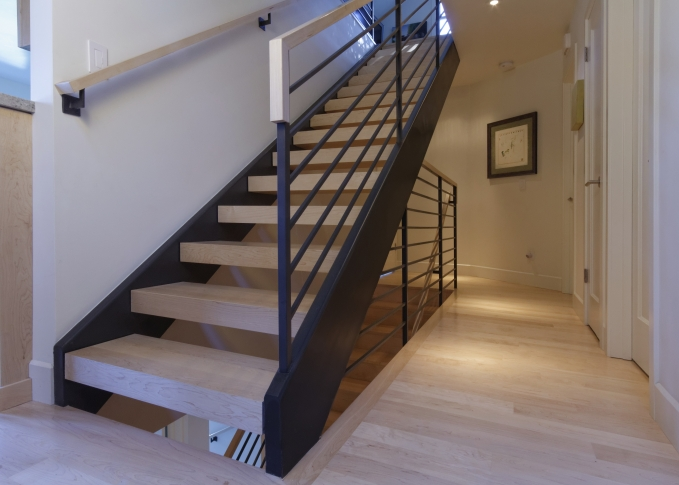 Modern Stairs by Kasten Builders Bay Area