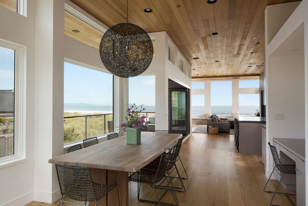 Modern coastal house interior